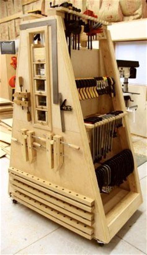 mobile clamp rack woodworking projects plans