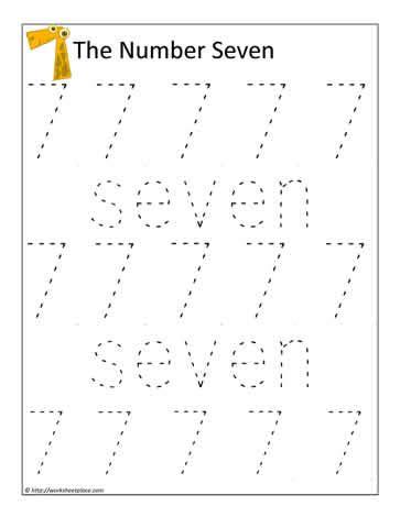 number 7 worksheets print the number 7 worksheets