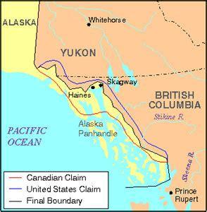 map of canada and alaska border alaska boundary dispute the canadian encyclopedia