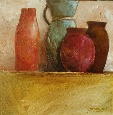 Vase Painters orange vase painting by jun jamosmos