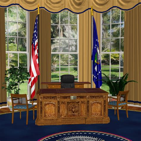 oval office layout 3d model oval office