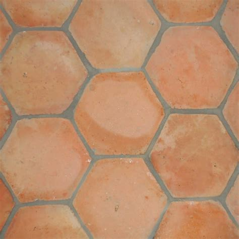 Hexagon Natural Terracotta Tiles 6x6   Marble System Inc.
