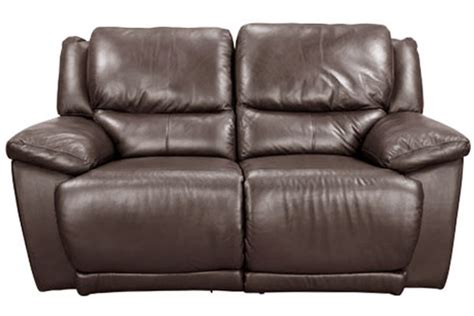 brown reclining loveseat delray brown leather reclining loveseat at gardner white