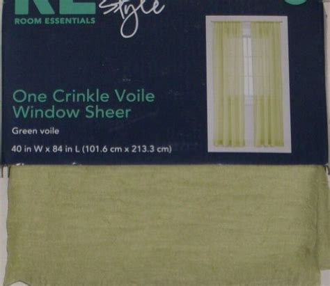 finding the best deals of essential home furnishing room essentials green crinkle voile window panel sheer 84