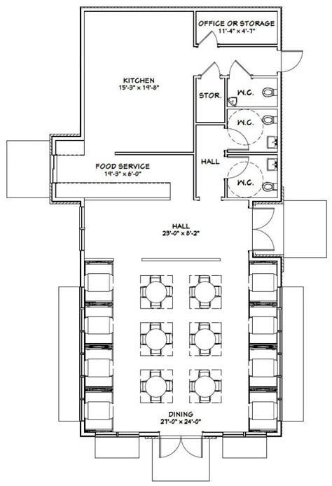 restaurant floor plan with dimensions 32x60 restaurant 32x60r1 1688 sq ft excellent