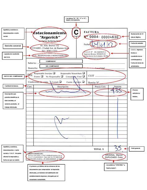 retenciones por flete modelo factura operador de pc