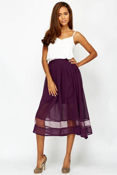 Pleated Maxi Mesh Skirt mesh insert pleated midi skirt just 163 5
