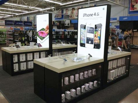 new dedicated apple product displays showing up at walmart