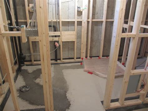 roughing in a basement bathroom aggroup inc orsag basement bathroom rough in