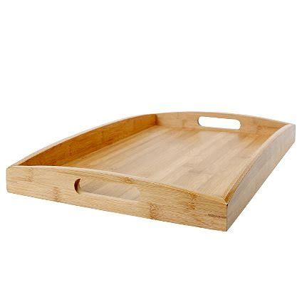 bed food tray bamboo wooden serving tray w handles tea jigsaw lap bed