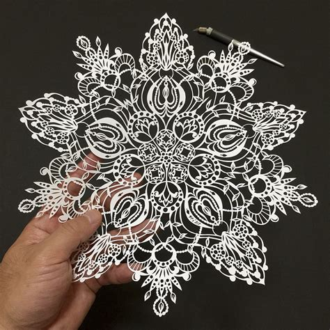 paper cutting japanese artist cuts insanely detailed paper