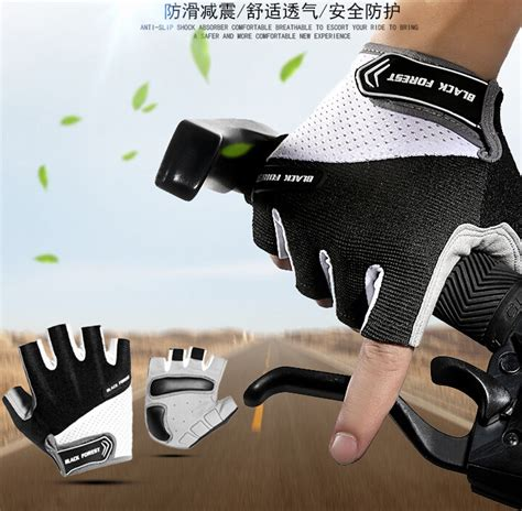 Sarung Tangan Sepeda sarung tangan sepeda half finger size l black white jakartanotebook
