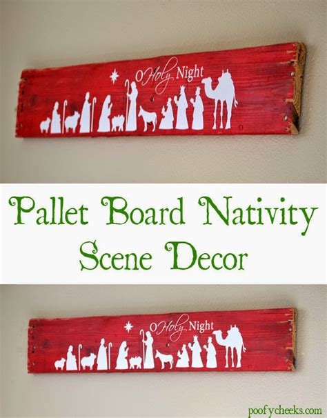 nativity decor pallet board nativity decoration poofy cheeks