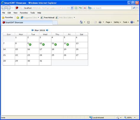 calendar java layout compact calendar sle smart gwt calendar 171 gwt 171 java