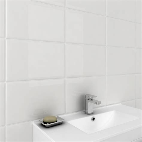 Large White Wall Tiles Bathroom by White Large Tiles Tile Design Ideas