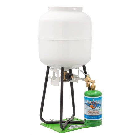 1 lb refillable propane cylinder with refill adapter kit