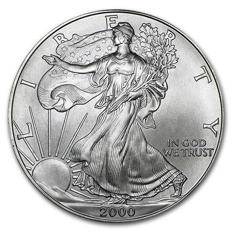1 Oz Silver American Eagle Bu by 2000 1 Oz Silver American Eagle Bu Silver Eagles West