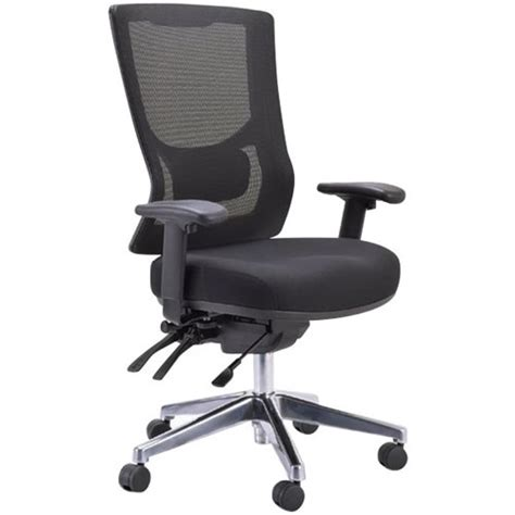 black high chair nz buro metro ii high mesh back chair with arms black