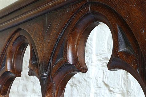 what is the meaning behind the gothic trefoil historic unique late gothic style oak carved bed for converted chapel