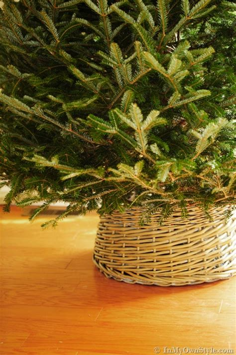michaels christmas tree basket base 25 great diy tree stands and bases shelterness