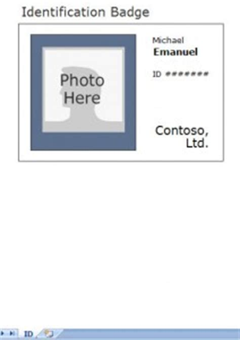 excel id card template photo identification card template employee id card