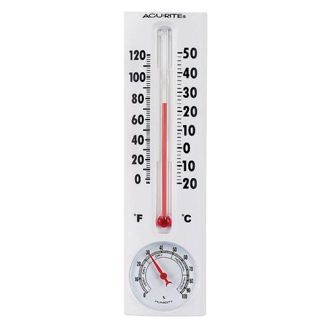 8 inch thermometer with humidity acurite 5 99