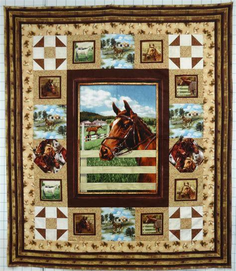 horse pattern quilt kits world of horses quilt kit