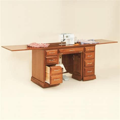 Mennonite Kitchen Cabinets by Double Pedestal Sewing Cabinet Solid Wood And Amish