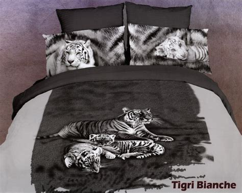 white tiger bed set bedding duvet set white tiger aniamal prints pinterest