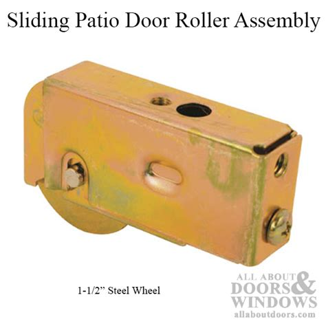Patio Door Roller Assembly Roller Assembly With 1 1 2 Inch Steel Wheel For Sliding Patio Door