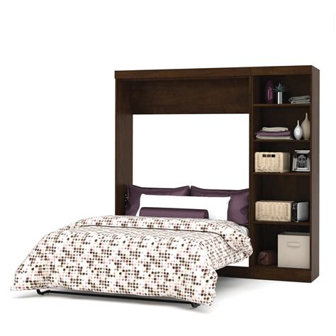 wall bed kits bestar pur by bestar 84 quot full wall bed kit in chocolate ebay