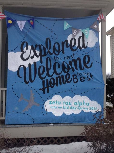 travel bid 25 best ideas about welcome home banners on