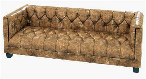 restoration hardware leather sofa restoration hardware savoy leather sofa 3d model max obj
