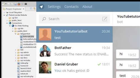 membuat bot telegram dengan python telegram bot tutorial youtube