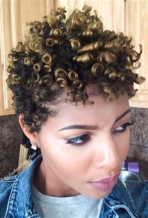 short natural hairstyles with rod curls perm rods perms and perm rod set on pinterest