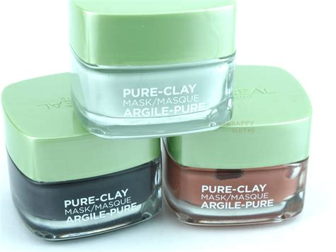 L Oreal Clay Mask l oreal clay masks review the happy sloths