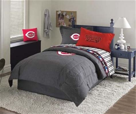 cincinnati reds bedroom cincinnati reds bedding comforter sheet set drapes pillow