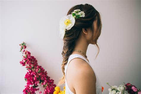 tutorial rambut bridal tutorial rambut flower fishtail braid thewedding id
