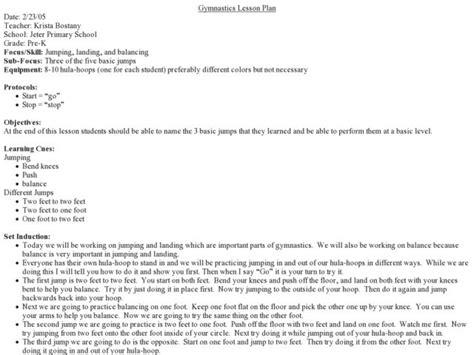 Gymnastics Lesson Plans Amp Worksheets Lesson Planet