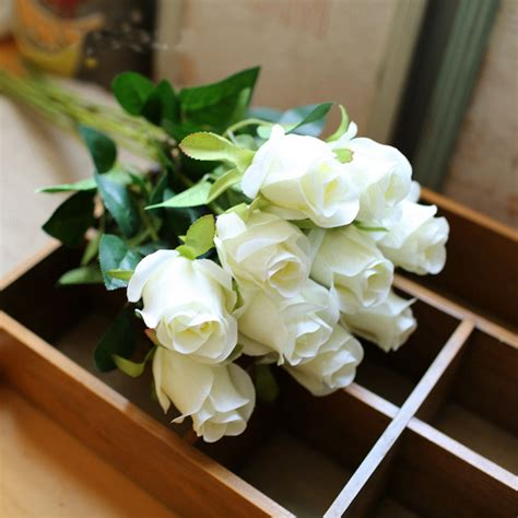 artificial flower decoration for home 6 colours 1pc beautiful silk flower artificial