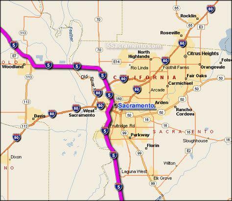 california map hwy 5 sacramento california map