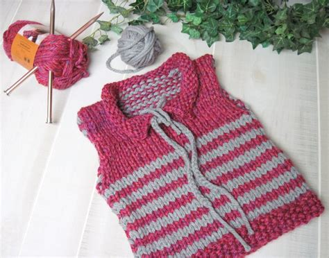 vest knitting pattern free free striped toddler vest size 3 by laurel arts craftsy