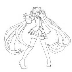 miku hatsune coloring page by doremefasoladedo on deviantart