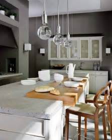 with rectangle cabinet also wooden chair plus glass pendant lights over kitchen island height industrial metal