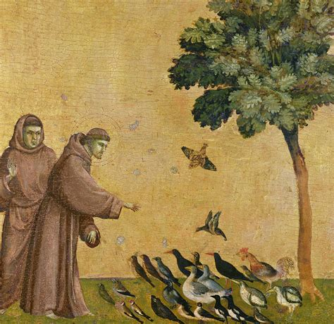Home Decor Blogs by Saint Francis Of Assisi Preaching To The Birds Painting By