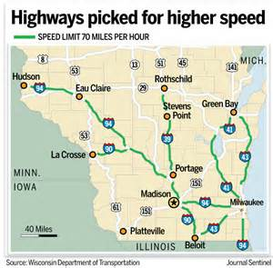 speed limit map coming to wisconsin this week 70 mph speed limit signs