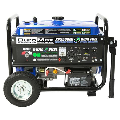 portable propane generator duromax xp5500eh 5 500 watt 7 5 hp portable electric start
