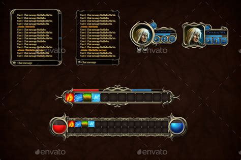 fantasy rpg user interface  craftpixnet graphicriver