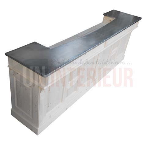 comptoir bar de 3 m 232 tres ou 300cm chr pin zinc