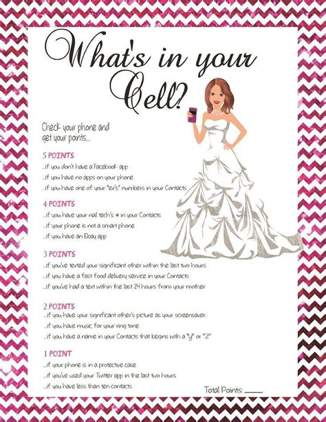free printable bridal shower games what s in your purse bridal shower game what s in your cell phone game